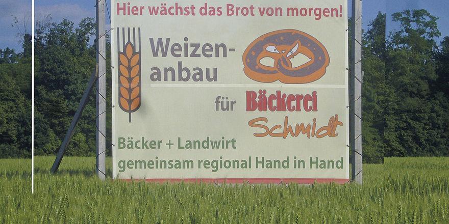 Eine Nachricht als Versprechen: Hier wird der Zusammenhang zwischen Weizen, Region und Brot deutlich.