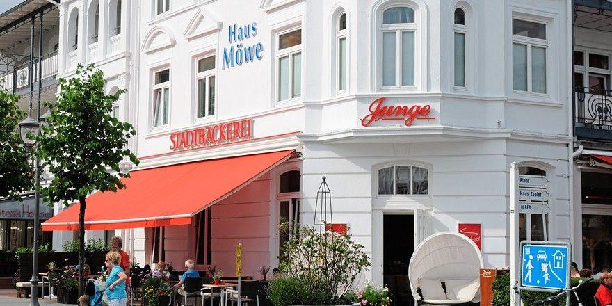 Die Bäckerei Junge hat auch Filialen in den Feriengebieten an der Ostsee, so wie hier in Binz.
