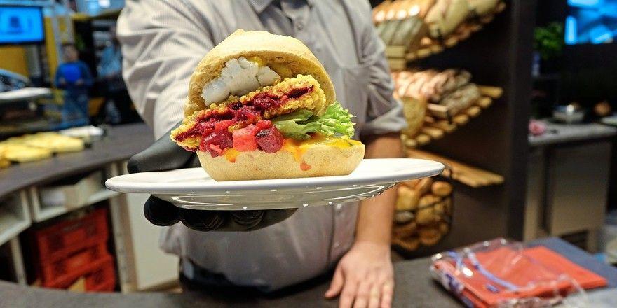 Burger mit innovativer Füllung.