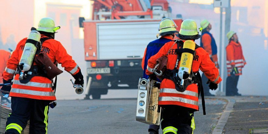 Die örtliche Feuerwehr hatte den Brand schnell unter Kontrolle.