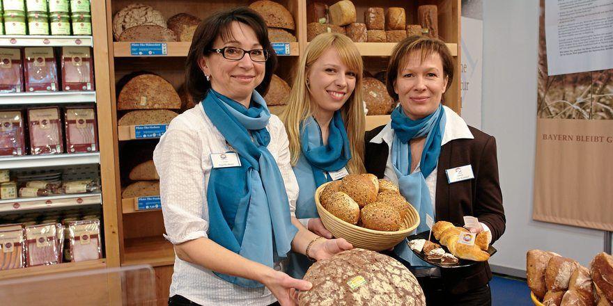 Großbrote sind ein Schwerpunkt der Münchner Hofpfisterei, hier auf einem Stand der Biofach in Nürnberg.