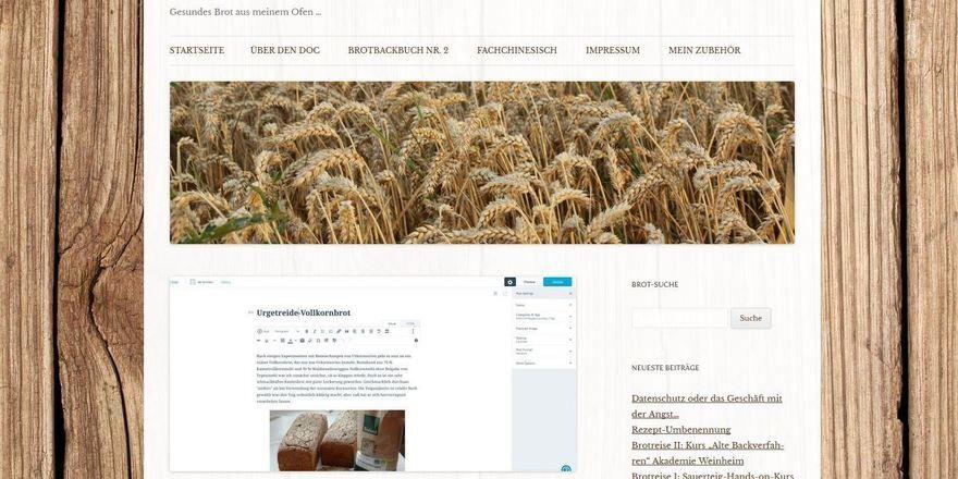"Der Blog vom ""Brotdoc""."