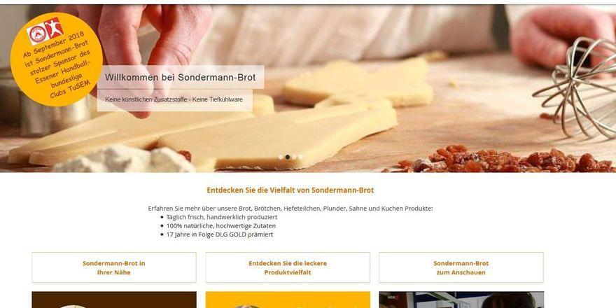 Auf der Homepage wirbt Sondermann mit dem Sponsoring von Tusem Essen