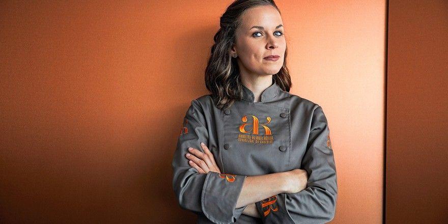Live auf dem Iba-Forum: Schokoladen-Sommelière Annette Klingelhöfer.