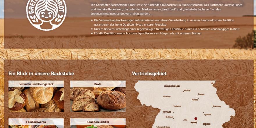 Das Vertriebsgebiet der Gersthofer Backbetriebe erstreckt sich über ganz Süddeutschland.