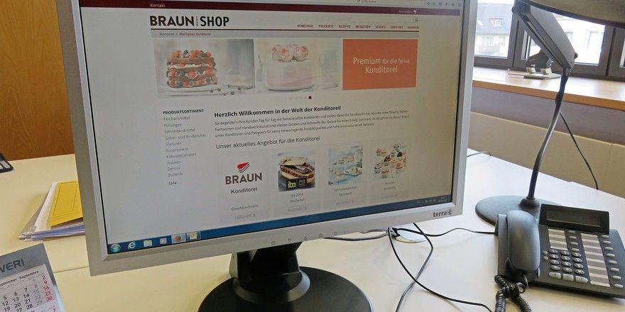 Die Nutzerzahlen des Braun Onlineshops steigen.