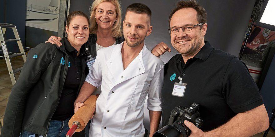 Bäckermeister David Haack beim Foto-Shooting für den Kalender.