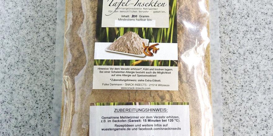 Fein gemahlene Mehlwürmer kommen auch für Backwaren in Frage.