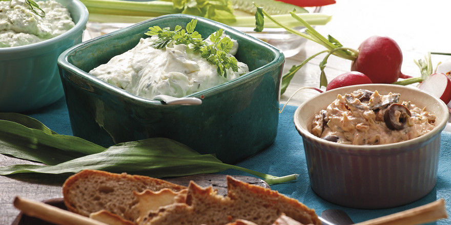Moderne Brotaufstriche verleihen dem Snackangebot eine gesunde Frische und können dem Kunden auch zum individuellen Bestreichen von Brot oder Brötchen serviert werden.
