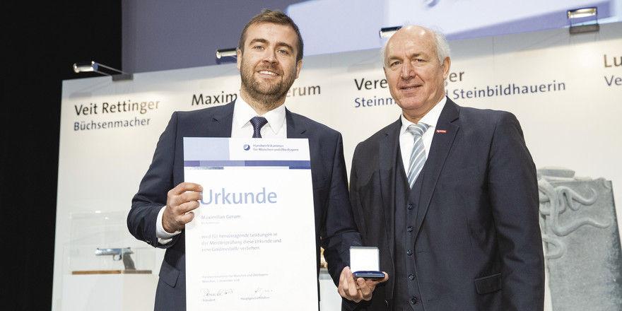 Maximilian Gerum (li) und Franz Peteranderl.