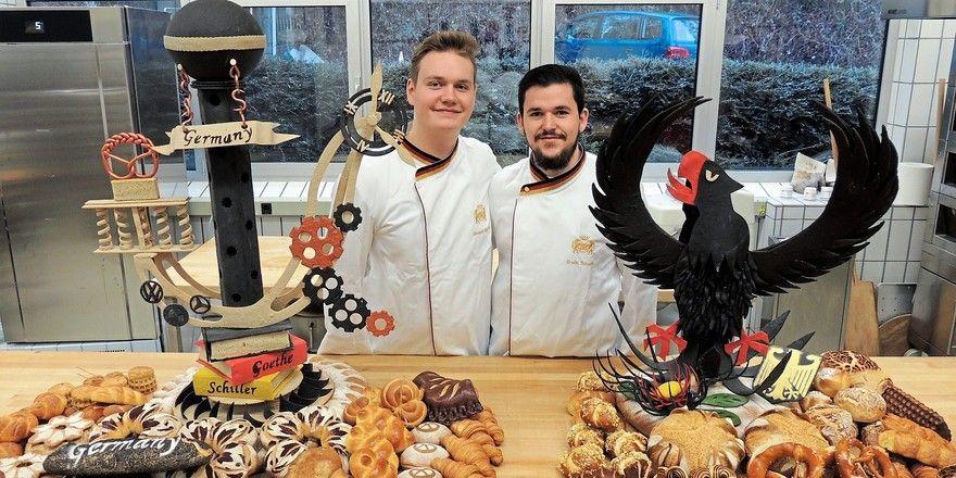 UIBC-Teilnehmer Vincent Richter (links) und Erwin Scheifel bei ihrem Abschlusstraining in Weinheim.