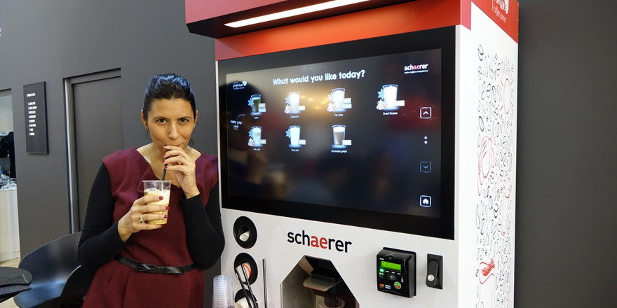 Der Premium Coffee Corner bietet eine große Auswahl an Kaffeespezialitäten.