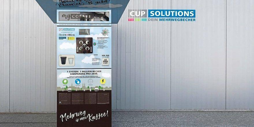 Vier solcher Rückgabeautomaten für Kaffeebecher stehen nun in Wien.