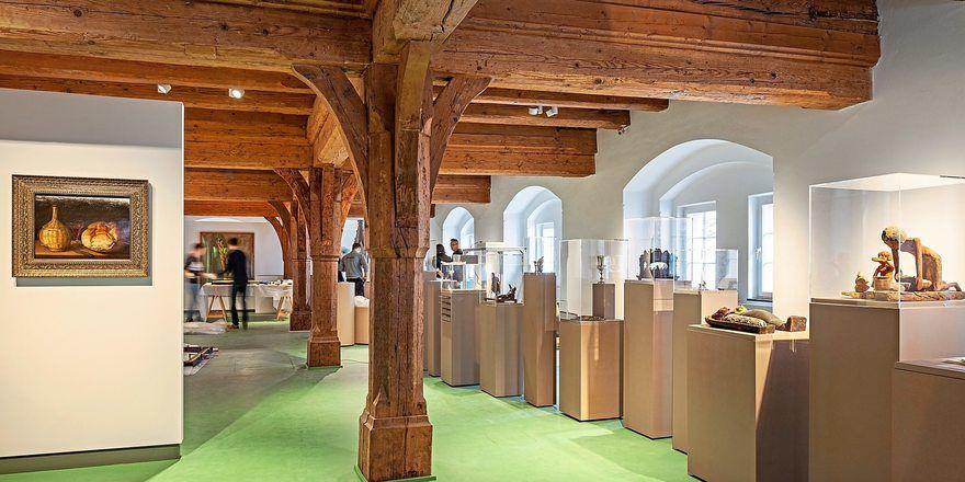 Im Museum Brot und Kunst können die Besucher viele Kunstwerke rund um das Thema Brot betrachten.