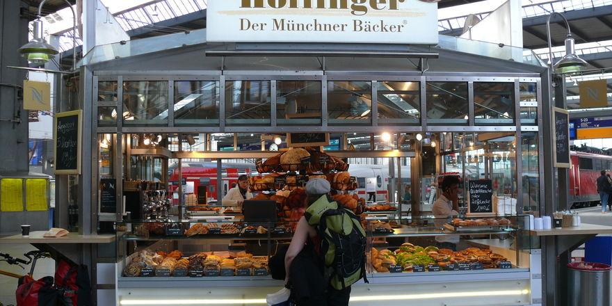 Die Bäckerei Höflinger ist in München (hier im Bahnhof) an zahlreichen Standorten präsent.