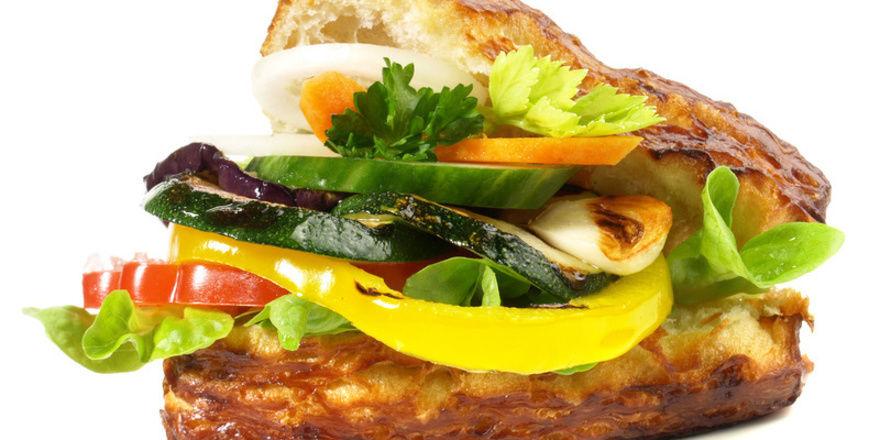 Das Gemüsebrötchen steht für einen Trend im Zusammenhang mit dem Snackgeschäft.