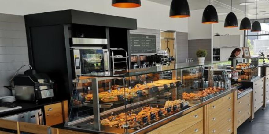 Pilotshop des Bäckereikonzepts Deli Bread im Industriepark Höchst.