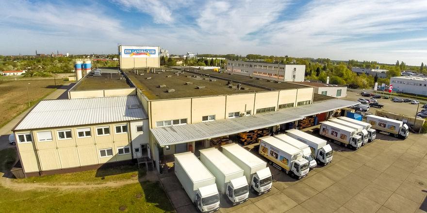Das Produktions- und Verwaltungsgebäude der Stendaler Landbäckerei GmbH in Stendal.