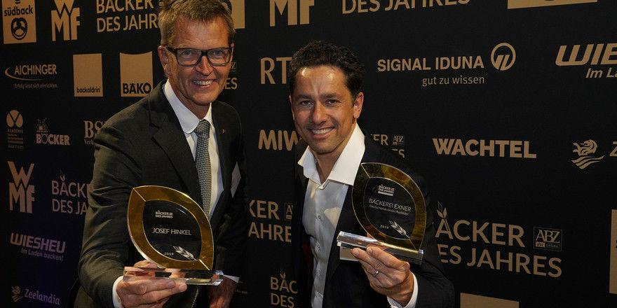 Sieger des Abends: Bäcker des Jahres Josef Hinkel (l.) und BakerMaker Tobias Exner.