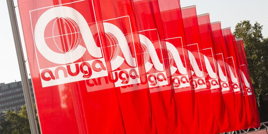 Ab 5. Oktober wehen wieder die Anuga-Fahnen.