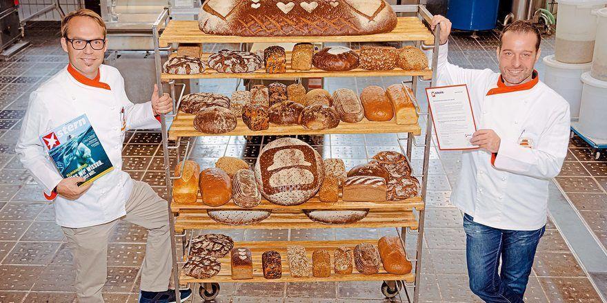 Grund zur Freude für Dominique (links) und Sascha Huth: Das Stern-Magazin hat ihrer Bäckerei eine Auszeichnung verliehen.