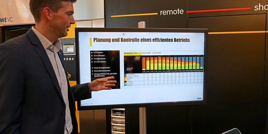 Ein Beispiel für computerüberwachtes Ladenbacken präsentierte Miwe auf der Südback.