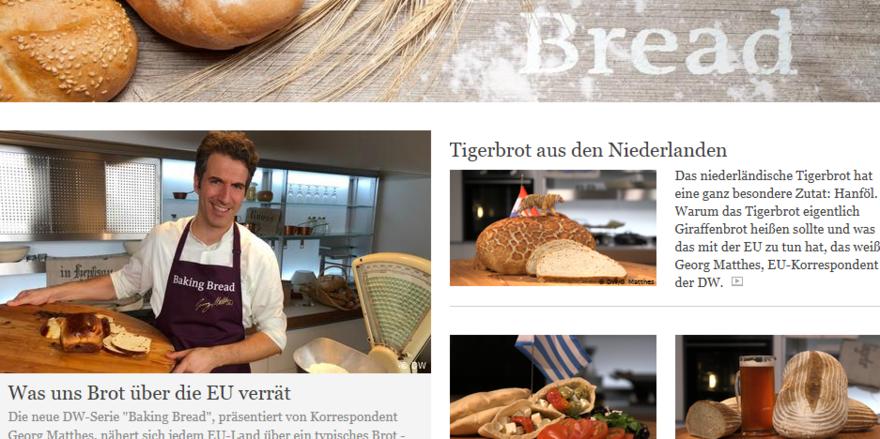 Ein Land ein Brot: Die Deutsche Welle macht mit der Rundfunkserie und via Mediathek-Beiträgen einen Streifzug durch die europäische Brotlandschaft.