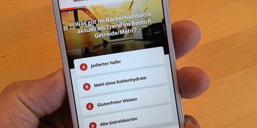 """Die Quiz-App """"Bäckerwissen"""" enthält jetzt 1200 Fachfragen und ein Gewinnspiel."""