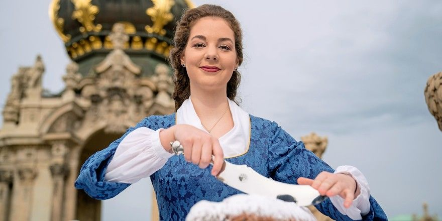 Veronika Weber war das 25. Dresdner Stollenmädchen. Nach dem Ausbildungsabbruch wird sie ein Studium beginnen.