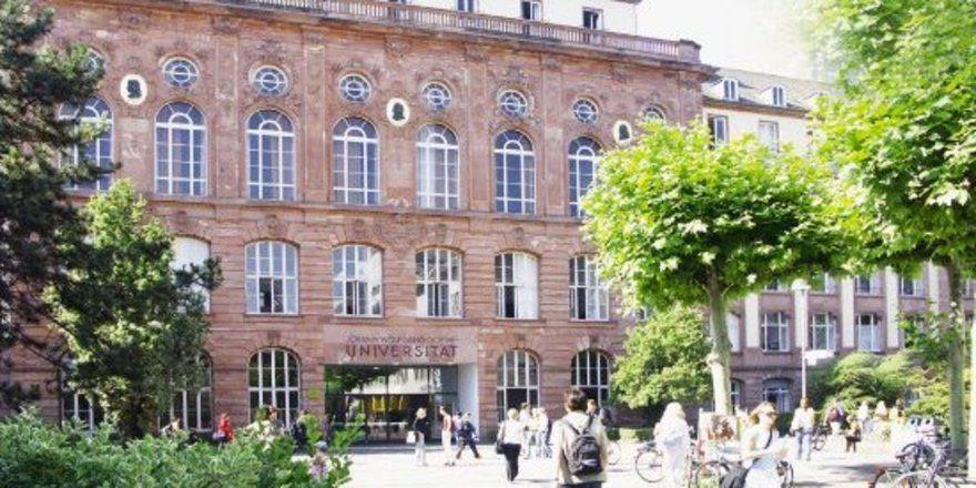 """Durch dieses Portal gelangen die Studenten in die Uni Frankfurt, in diesem Gebäude wird unter anderem auch Betriebswirtschaft gelehrt.<tbs Name=""""foto"""" Content=""""*un""""/>"""
