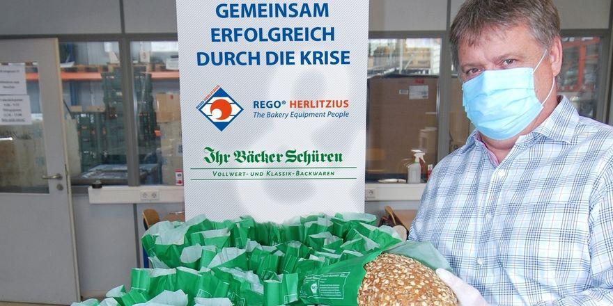 """Schüren-Brote beim """"Empfänger""""."""
