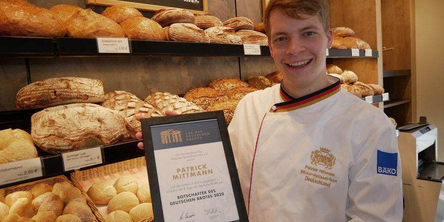 Patrick Mittmann von der Bäckerei Wörner in Jettingen ist einer der 6500 Brotbotschafter dieses Jahres.