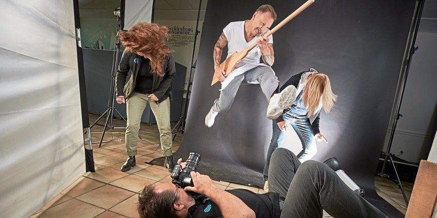 Das rockt: Fotoshooting für den Handwerkskalender 2020 mit dem späteren Finalisten, Bäckermeister Thomas Freudenberg.