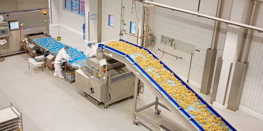 Eine Cookie-Produktionsanlage von Aryzta.