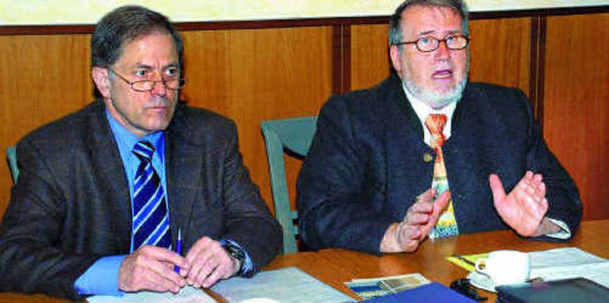 Geschäftsführer Helmut Münch (links)und LIM Willi Renner stellten den Mitgliedern des BIV Südwest den neuen Berater vor.