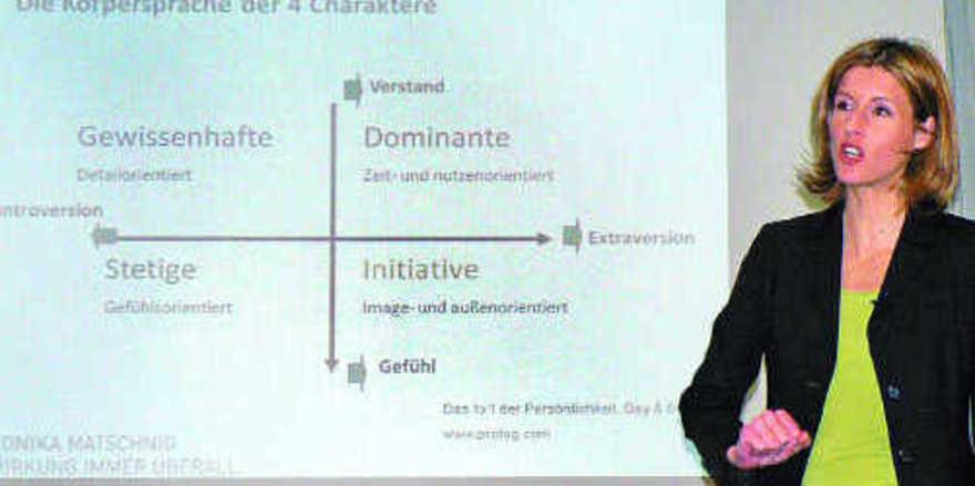 Jeder Mensch wirkt anders: Monika Matschnig erläuterte die Eigenarten.