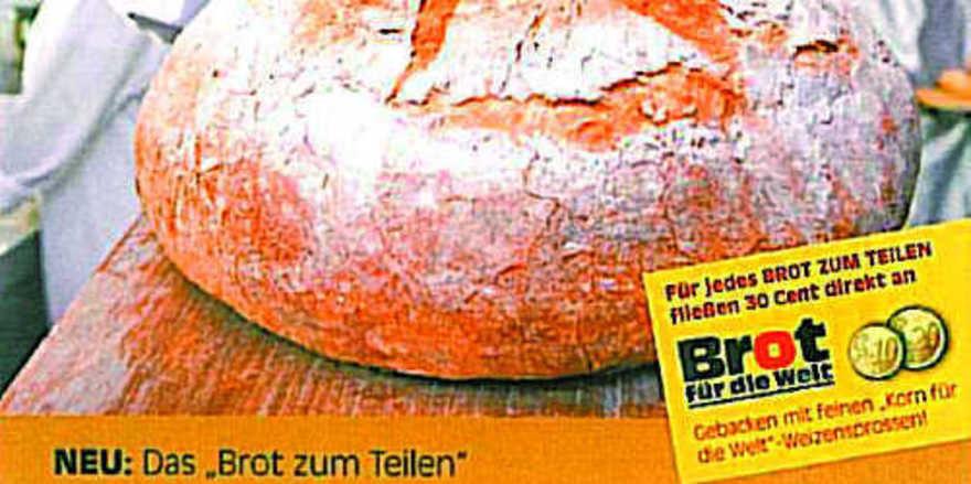 """Brot für die Welt: Das große Plakat ist Teil des umfangreichen Werbemittelpakets im Zusammenhang mit der Aktion """"Brot zum Teilen""""."""