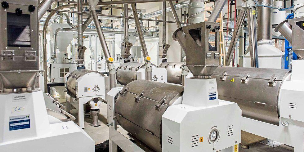 Neue Mühle in Betrieb: In Rosche laufen die Flockierstühle.