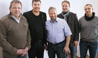 Sitzungsmarathon in Güstrow mit dem Vorstand des Landesinnungsverbandes (von links): Jörg Reichau, Thomas Müller, Klaus Tilsen, Olaf Jaretzke und Jens Döbler. Mathias Grenzer fehlte krankheitsbedingt.