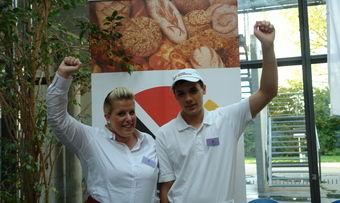 Freuen sich über den Landestitel: Stefanie Reiß und Philipp Kuch.