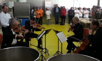 Vier Mitglieder des BR-Rundfunkorchesters gaben in Manfred Pilgers Backstube ein hochklassiges Konzert.