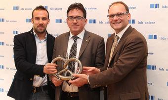 Der neue Landesinnungsmeister der Südtiroler Bäcker, Johann Trenker (Mitte), mit seinen beiden Stellvertretern Peter Mutschlechner (links) und Sandro Pellegrini.