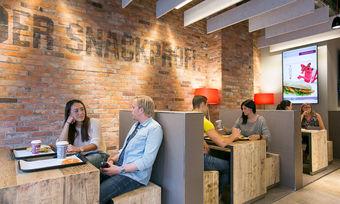 Wie hier die Filiale in Kassel, wird auch in Gelsenkirchen auf trendiges Ambiente und großzügiges Raumangebot gesetzt.