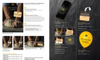 So sehen die Werbemittel des Aktionspakets zum Tag des Deutschen Brotes.