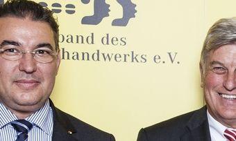 Hauptgeschäftsführer Amin Werner (links) und Präsident Peter Becker sind seit 2009 das Führungsgespann beim ZV in Berlin.