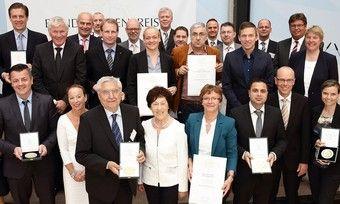Die Preisträger der Kategorie Backwaren bei der Verleihung des Bundesehrenpreises 2015.
