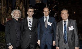 Treffen sich in New York (von links): Hermann Bühlbecker, Botschafter Heiko Thoms, Unternehmer Alfred Oetker und Tino Zeiske von der Metro-Gruppe.