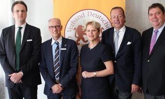 Führen den Verband (von links): Geschäftsführer Alexander Meyer-Kretschmer, Alexander Heberer, Ulrike Detmers, Hans-Jochen Holthausen und Geschäftsführer Armin Juncker.,