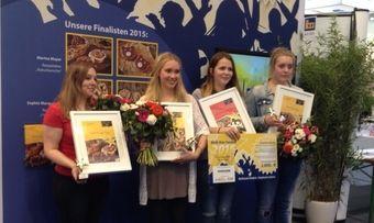 Vier Finalistinnen, eine Siegerin (von links): Marina Mayer. Sophie Marquetant. Franziska Zöhren und Anna Rehn.