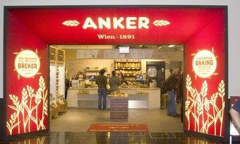Ankerbrot ist auch auf dem Wiener Flughafen präsent.